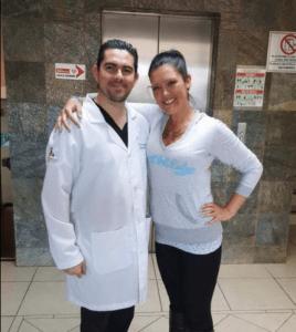 Dr. Alejandro Gutierrez with Patient